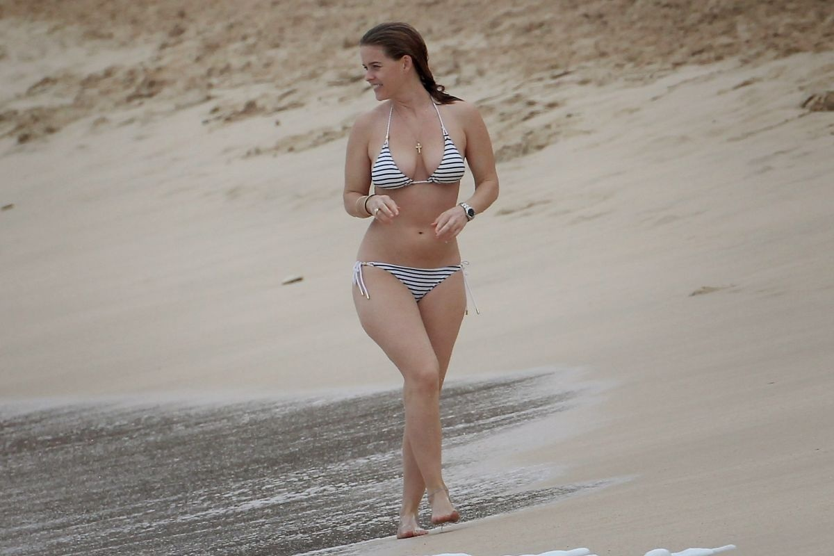 Alice Eve In Bikini At Beach In Barbados Beach