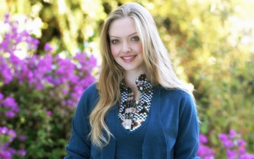 Women Amanda Seyfried Celebrities Blondes Women Outdoors Smiling Long Hair Hair
