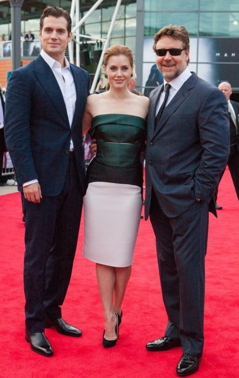 Amyadamsmos Amy Adams Chose Gorgeous Fold Antonio Berardi Multi Colored Dress For The Uk Premiere Of Man Of Steel Fashion