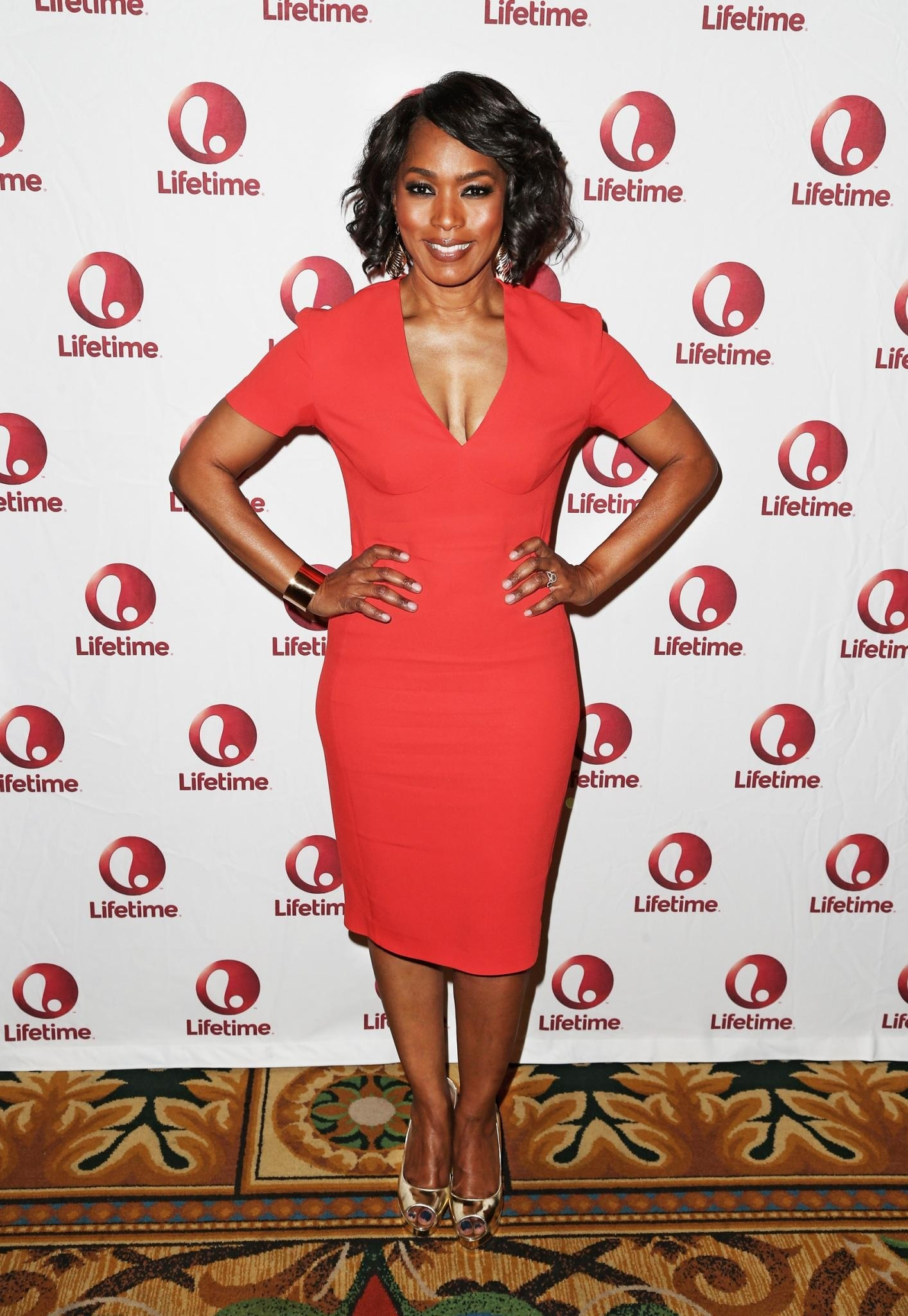 Angela Bassett Attends The Lifetime Network Sponsored Breakfast For Whitney During The Winter Television Critics Association Press Tour At The Langham Hotel In Pasadena California Angela Bassett