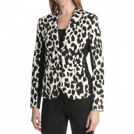 Paperwhite Animal Print Jacket For Women In Multi Animal Printp