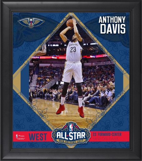 Anthony Davis New Orleans Pelicans Framed Nba All Star Game Collage Anthony Davis