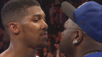 After Anthony Joshuas Impressive Win Over Raphael Zumbano Love Joshua Was Met In The Ring