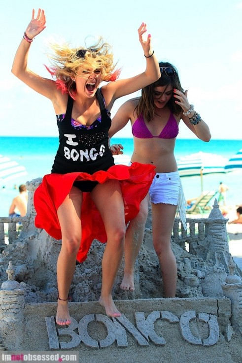 Ashley Benson And Lucy Hale Are Bongo Beach Babes Beach