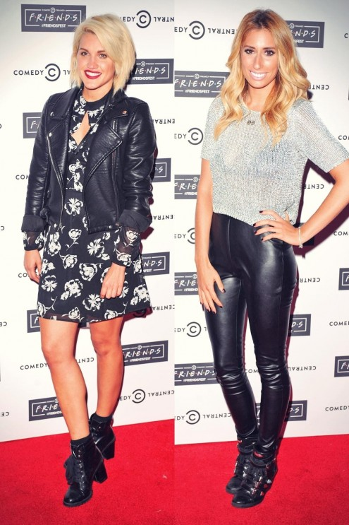 As Ey Roberts Stacey Solomon Attend Comedy Central As Ey Roberts