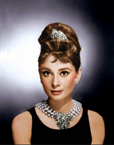 Audrey Hepburn Breakfast At Tiffanys Colour Audrey Hepburn