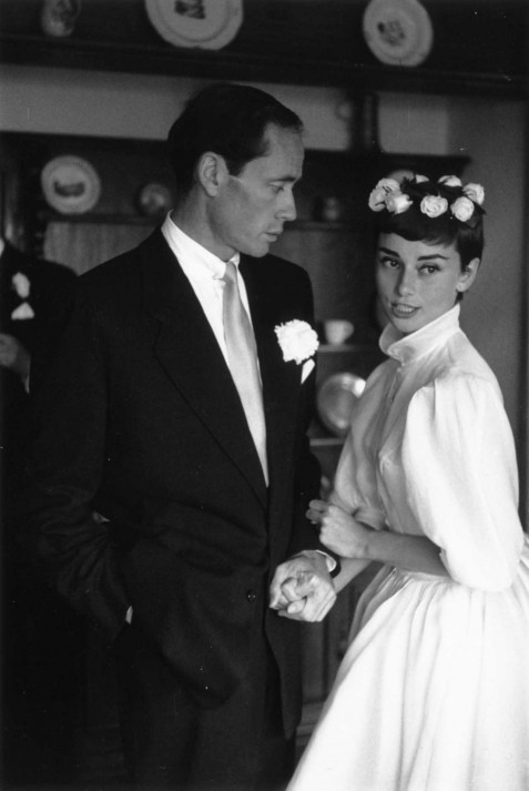 First Marriage Mel Ferrer Audrey Hepburn Wedding Dresses Audrey Hepburn