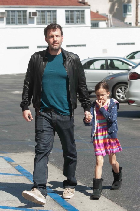 Ben Affleck With Daughter Out In Los Angeles Ben Affleck