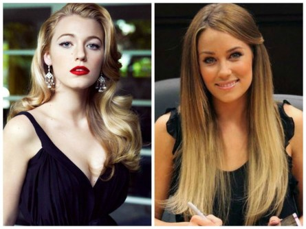 Different Hair Textures Straight Wavy Lauren Conrad Blake Lively Hair