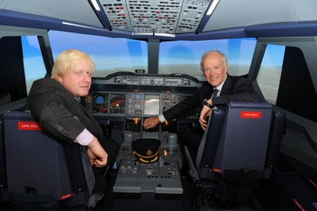 Tim Clark And Boris Johnson Emirates Aviation Experience Image