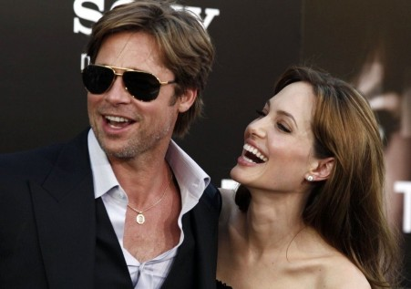 Angelina Jolie Brad Pitt At The Salt Premiere Brad Pitt