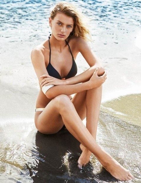 Bregje Heinen By Derek Kettela Style By Alessandra Steinherr Glamour Uk June Ultimate Beach Beauty Guide Bregje Heinen