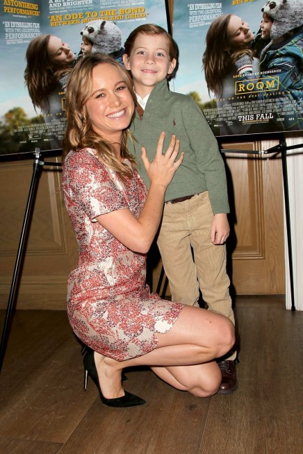 Brie Larson And Jacob Tremblay At As Room New York Screening Brie Larson