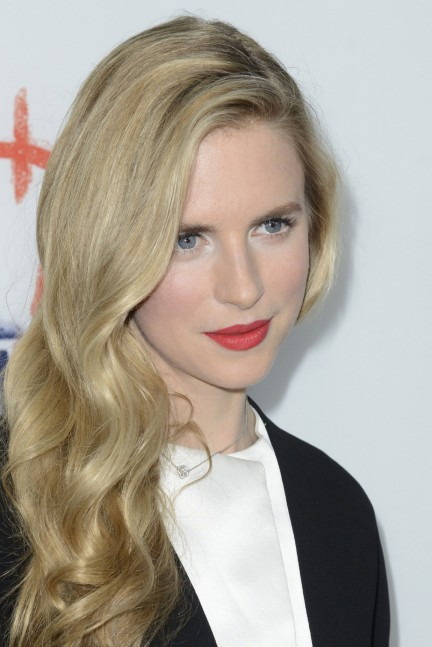 Brit Marling White Eye Shadow Coral Lipstick Main