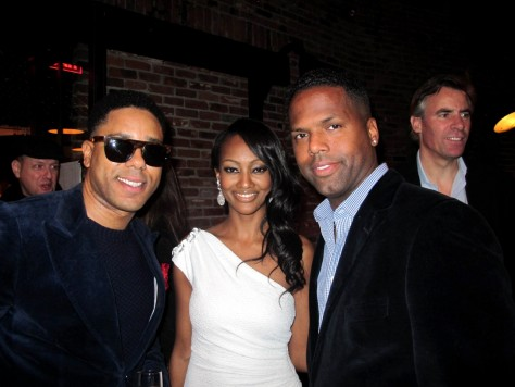Django Unchained Ny Premiere Afterparty Bj Coleman Nichole Galicia Aj Calloway