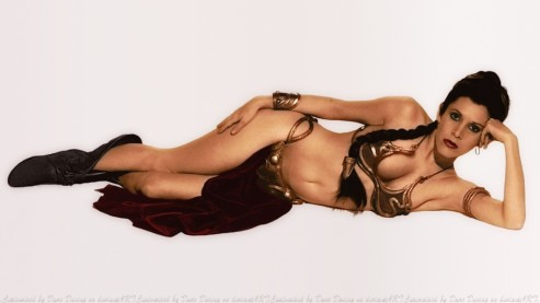 Carrie Fisher Slave Leia Dave Daring Carrie Fisher