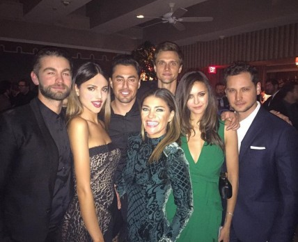 Eiza Gonzalez Nina Dobrev Chace Crawford Group Pic Chace Crawford