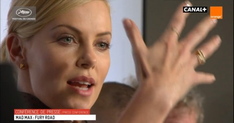 Charlize Theron During The Press Conference Movies