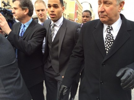 Chris Brown Arriving To Court Dcfab