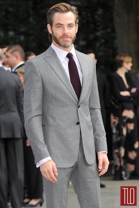 Chris Pine Giorgio Armani Th Anniversary Celebration Red Carpet Fashion Tom Lorenzo Site Tlo Fashion