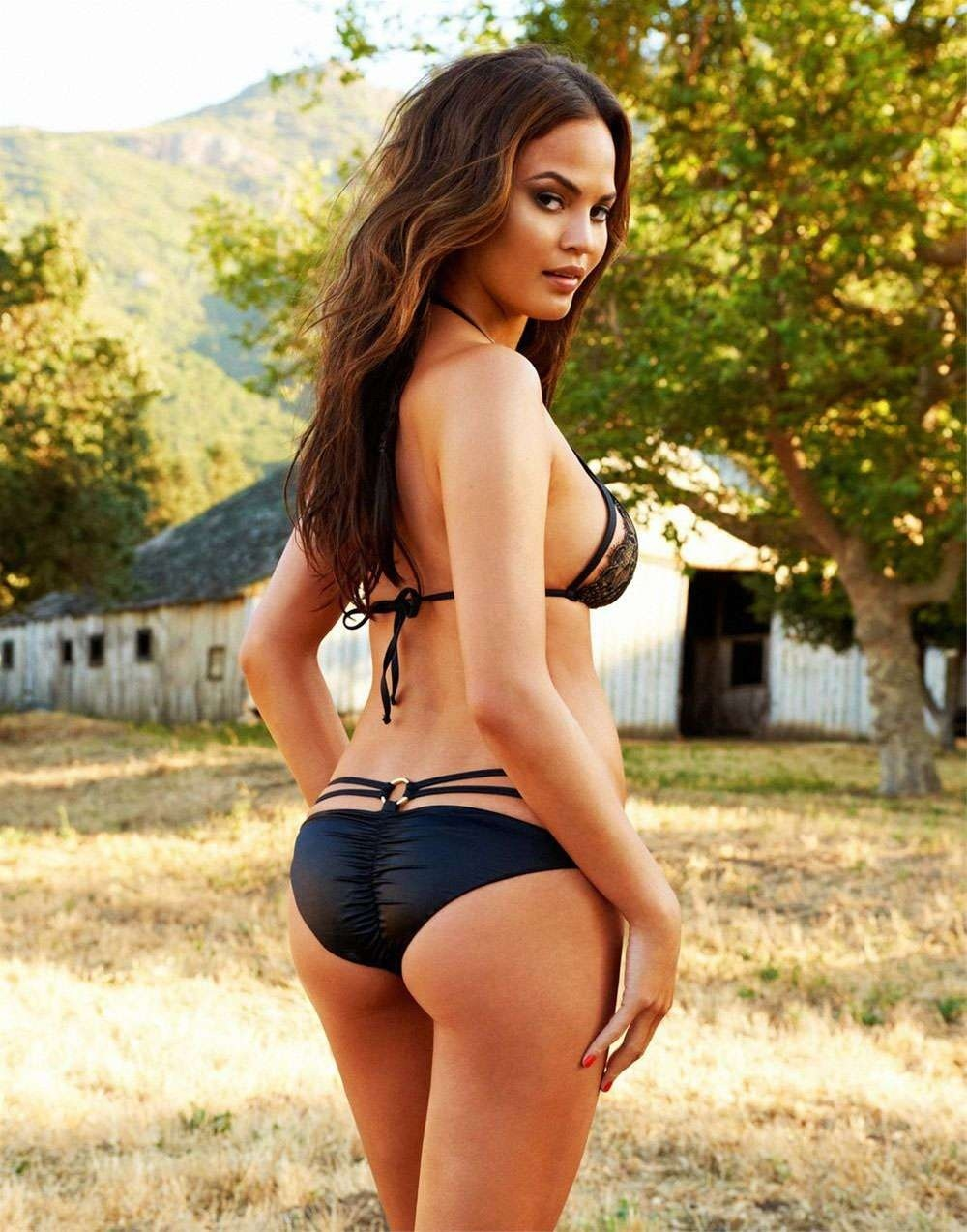 Chrissy Teigen In Black String Bikini Photo Chrissy Teigen