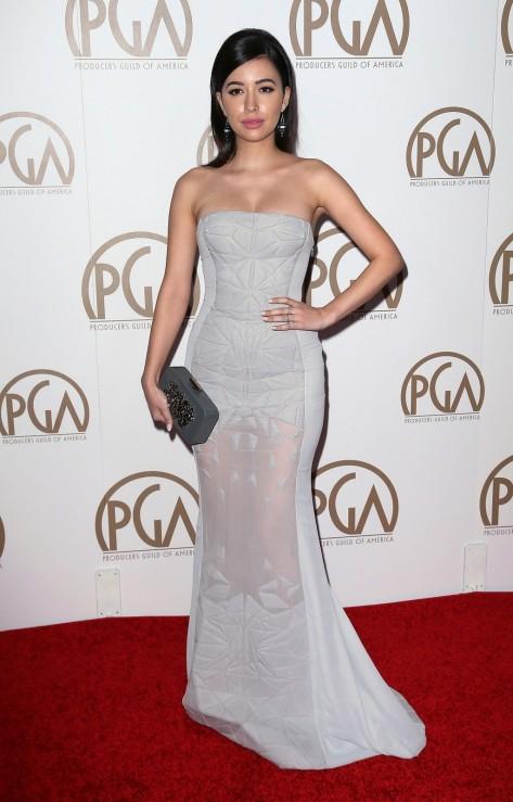 Fashion Christian Serratos Gray Dress Pga Awards Red Carpet Main Christian Serratos