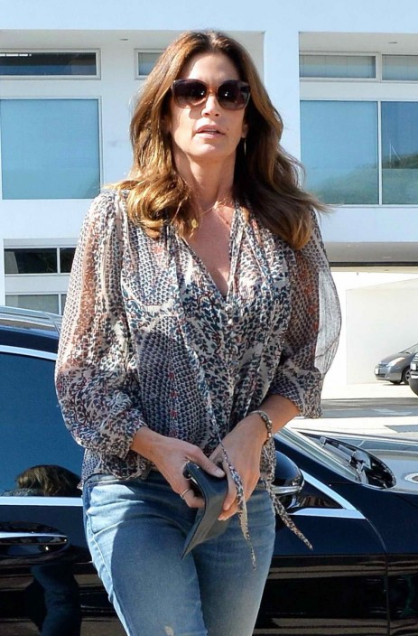 Cindy Crawford At The Joel Silvers Memorial Day Party In Malibu Cindy Crawford
