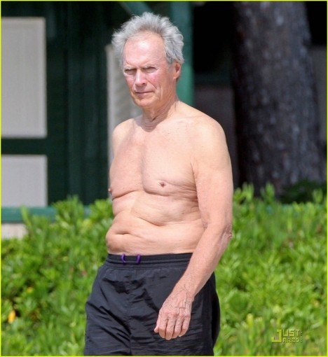 Clint Eastwood Shirtless Body
