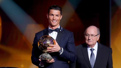 Fifa Ballon Or Winner Cristiano Ronaldo Of Portugal And Real Madrid Accepts Fifa Ballon Or