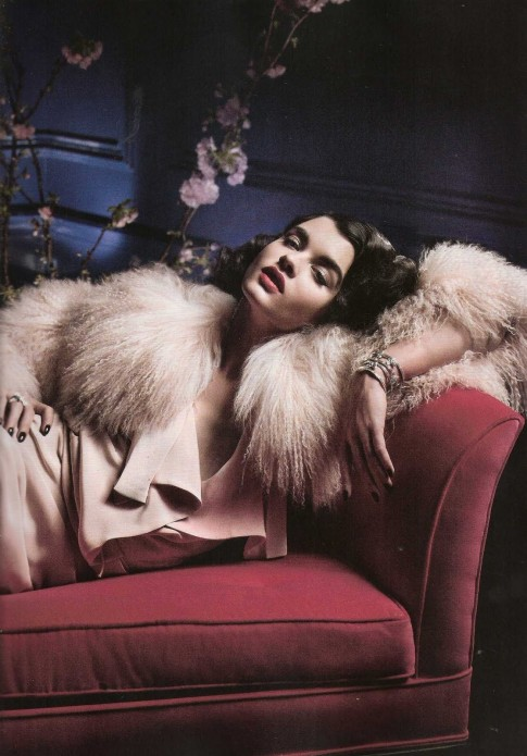 Crystal Renn Vogue Spain July Mark Selinger Vogue