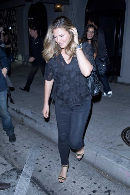 Daisy Fuentes Leaves Craigs Restaurant West Hollywood Daisy Fuentes