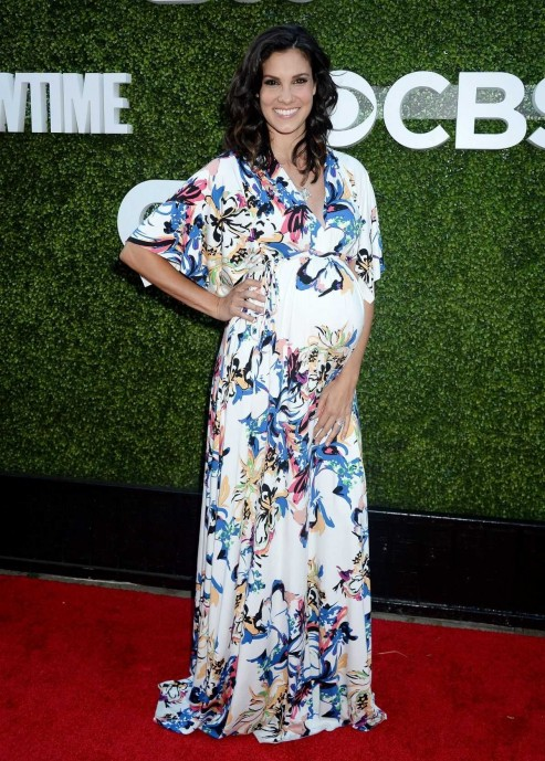 Pregnant Daniela Ruah At Cbs Cw And Showtime Tca Summer Press Tour Party In Westwood August Daniela Ruah