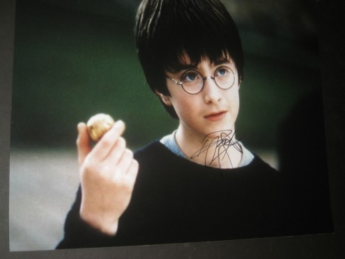 Productimage Picture Harry Potter Daniel Radcliffe Signed Autograph Photo Harry Potter