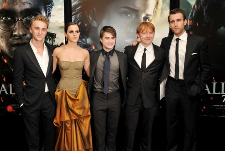 Tom Felton Rupert Grint Matthew Lewis Daniel Radcliffe And Emma Watson At Event Of Harry Potter Si Talismanele Mortii Partea Ii Height