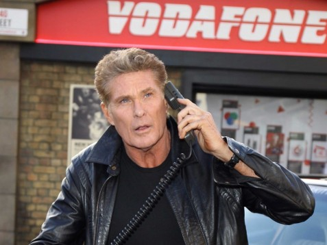 David Hasselhoff And Kitt Attend Photocall To Launch Street Inspired Pop Up At Covent Garden On January In London England The Pop Up Celebrates Years Since The First Mobile Phone Call