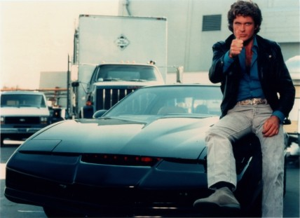 David Hasselhoff And Kitt From Knight Rider David Hasselhoff