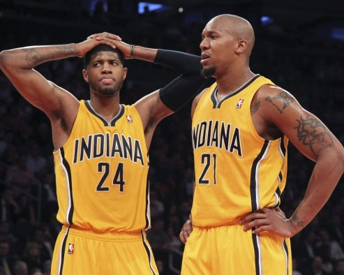 Indiana Pacers Paul George David West