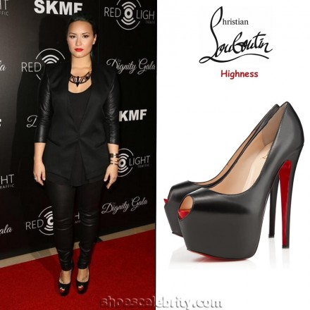 Demi Lovato Christian Louboutin Highness Pumps