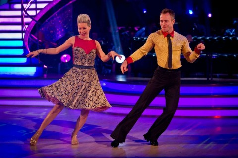 Denise Van Outen And James Jordan On Strictly Come Dancing Strictly