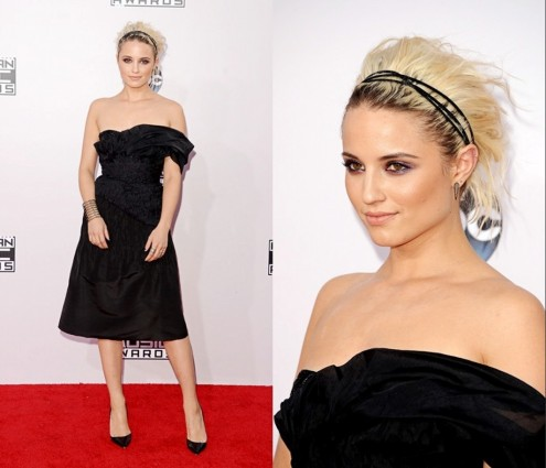 Dianna Agron Black Dress Amas