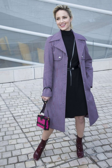 Dianna Agron Louis Vuitton Fashion Show In Paris Dianna Agron