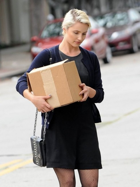 Dianna Agron Spotted While Going Back From Shopping In West Hollywood