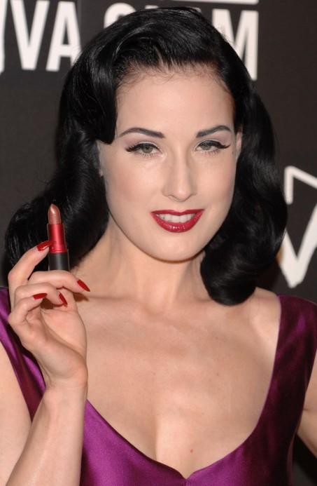 Dita Von Teese Viva Glam Vi Mac Cosmetics Party Purple Dress