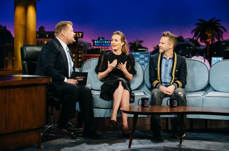Leighton Meester And Dominic Monaghan On Corden Billboard Dominic Monaghan