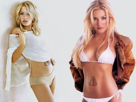 Elisha Cuthbert Female Celebrity Tattoos