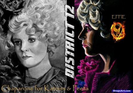 How To Draw Effie Hunger Games Elizabeth Banks Elizabeth Banks
