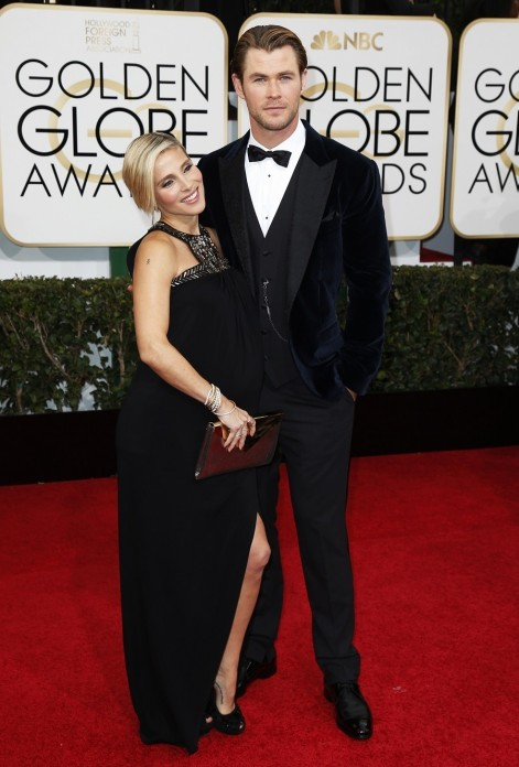 Actor Chris Hemsworth And His Wife Elsa Pataky At The Golden Globes Movies List
