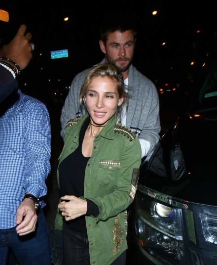 Elsa Pataky And Chris Hemsworth Arrive At Catch Restaurant In West Hollywood Elsa Pataky