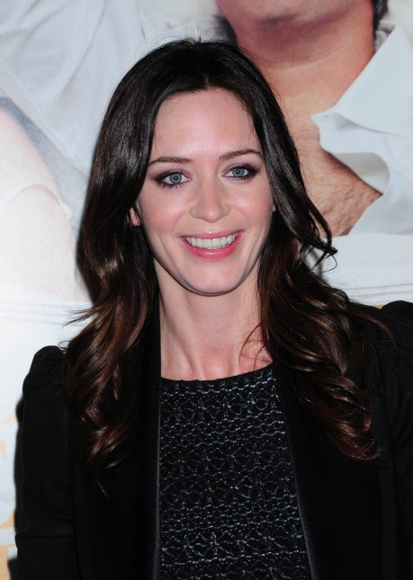 Emily Blunt Black Jacket Long