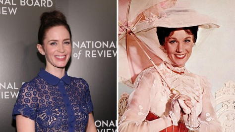 Emily Blunt Mary Poppins Split Emily Blunt